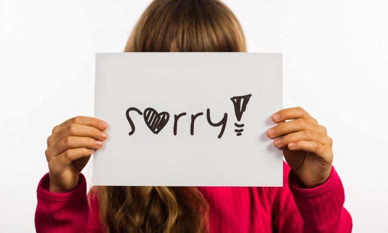 تعليم الاعتذار للطفل