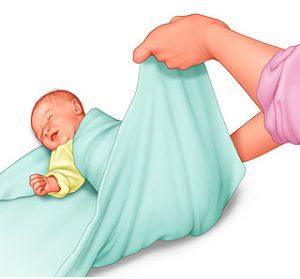 طريقة تقميط الطفل