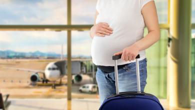 ركوب الطائرة للحامل