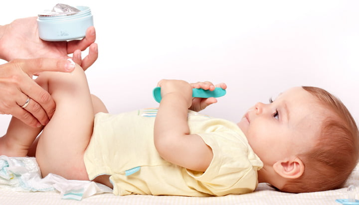 علاج التهاب الحفاضات عند الاطفال