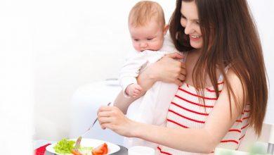 النظام الغذائي النباتي للأم المرضع