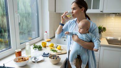 أكل النفاس بعد الولادة